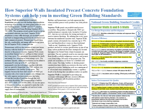 Superior Walls can help you meet Green Building Standards
